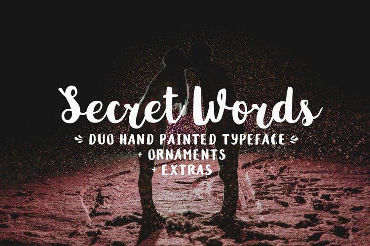 Secret Words Font Duo + Bonus - Free Font of The Week Font