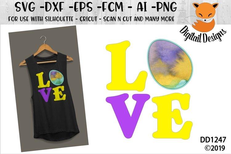 Easter Love Vinyl Applique SVG Cut File example image 1