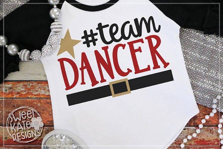 Team Dancer SVG DXF EPS PNG JPG example image 1