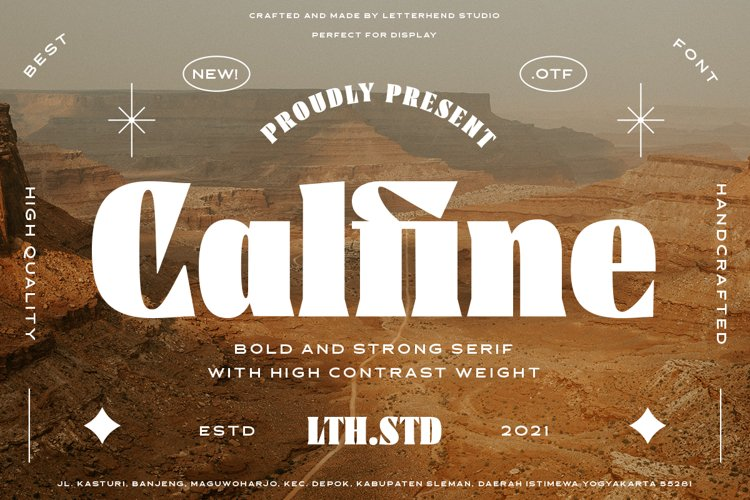 Calfine - Bold Serif