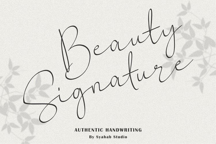 Beauty Signature Script Handwritten example image 1