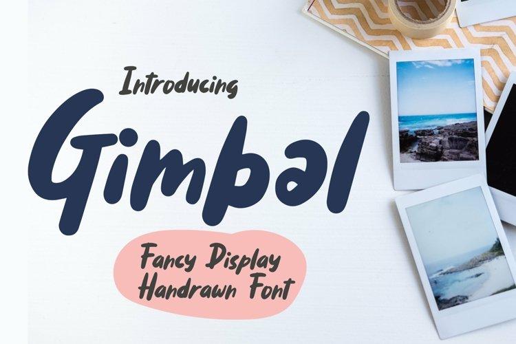 Web Font Gimbal - Fancy Display Handrawn Font example image 1