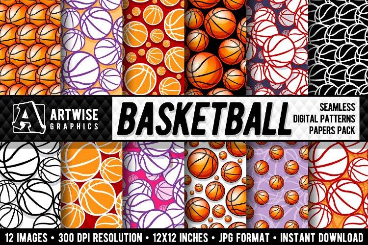 Basketball Digital Paper Seamless Pattern Graphics