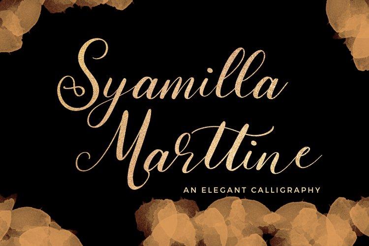 Syamilla Marttine An Elegant Calligraphy Font