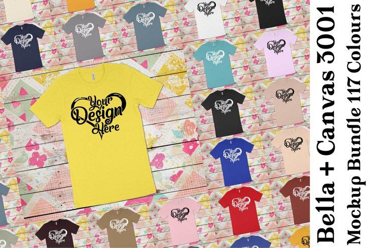 Bella Canvas Mockup 3001 Bundle Clean T-Shirt Mock Ups 339 example image 1
