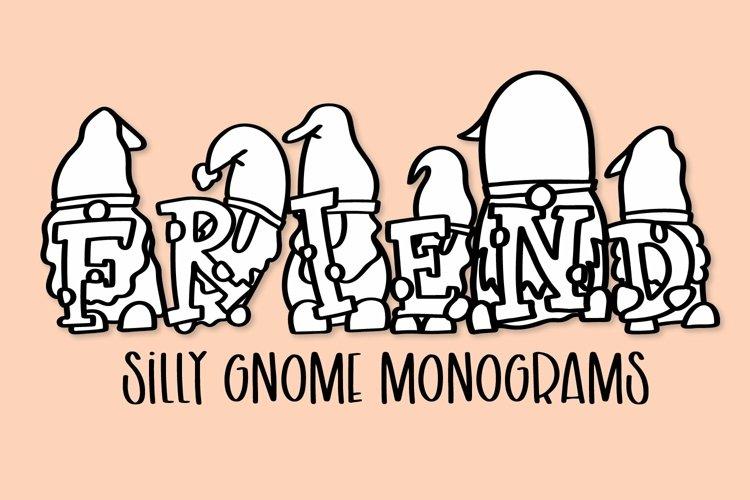 Web Font Gnome Friends Monogram Font - A-Z Letters example image 1