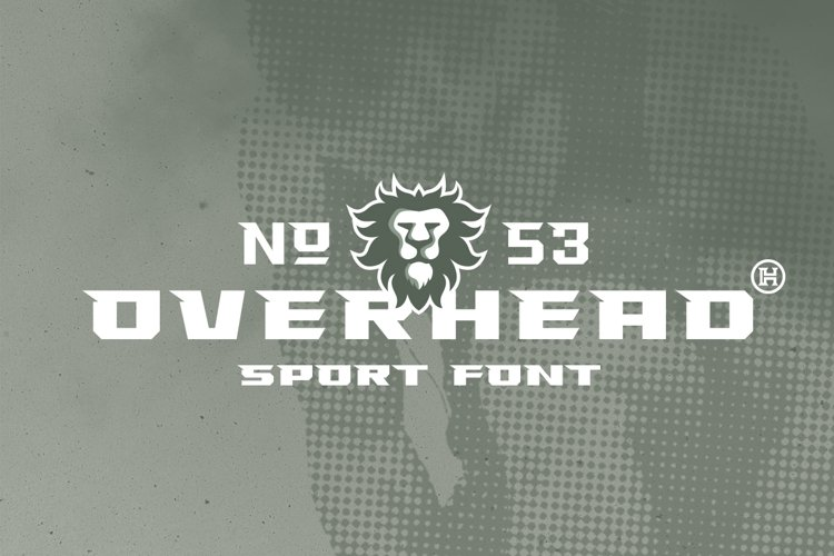 Overhead Typeface   Font example image 1