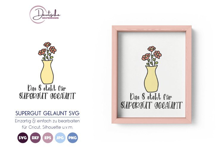Gute Laune SVG | Blumen SVG example image 1