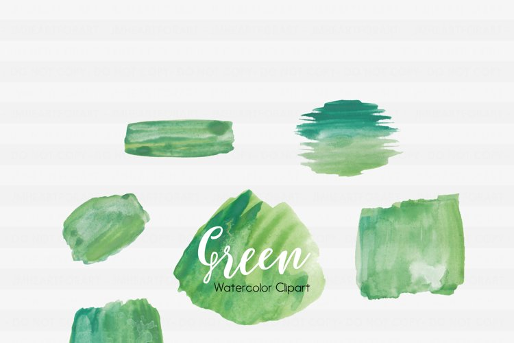 Brush Strokes-Watercolor clipart-Watercolor splashes-Ink splatter clipart-Planner clipart-commercial use-Watercolor Swipes-Green Clipart example image 1
