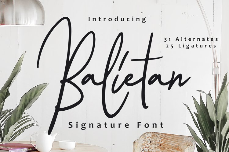 Balietan Signature Font example image 1