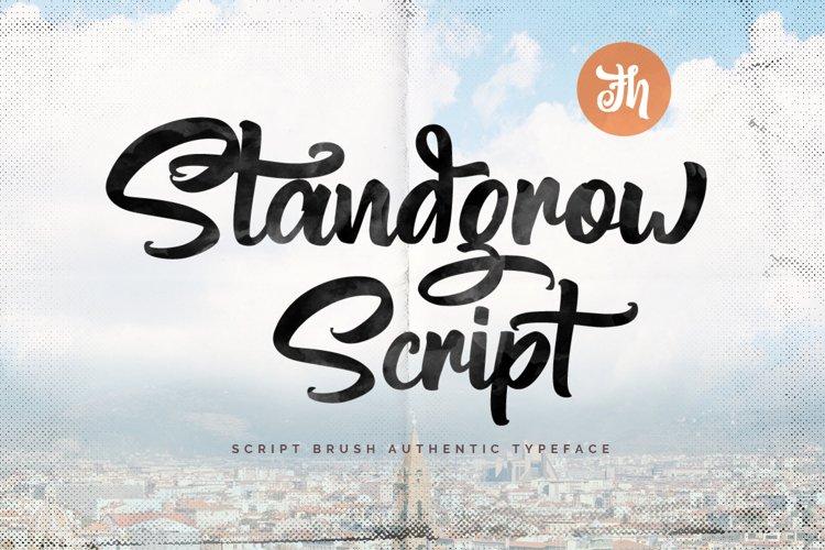 Standgrow - Script Font example image 1