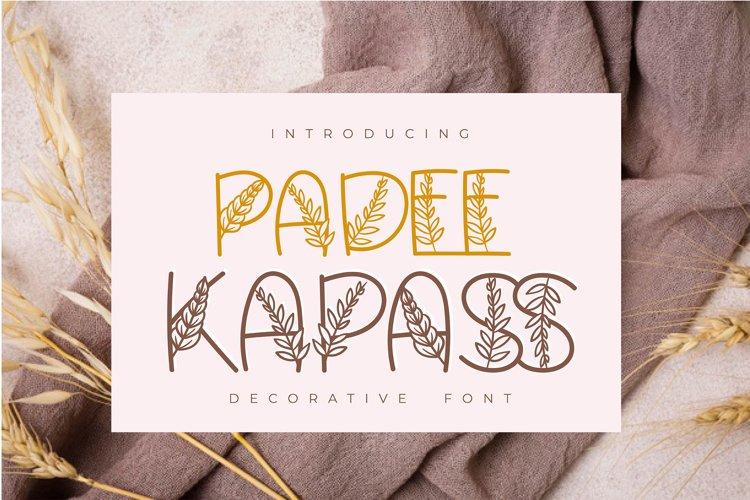 Padee Kapass | Decorative Font example image 1