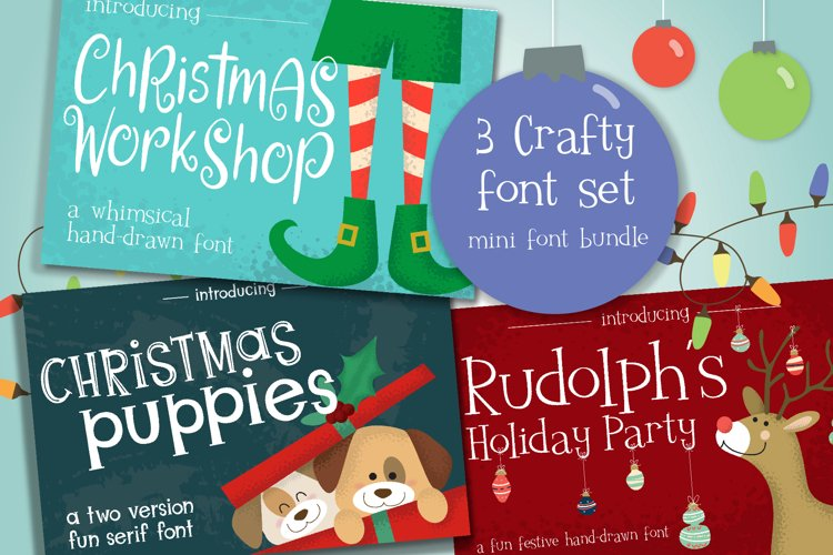 Christmas Themed Mini Font Bundle