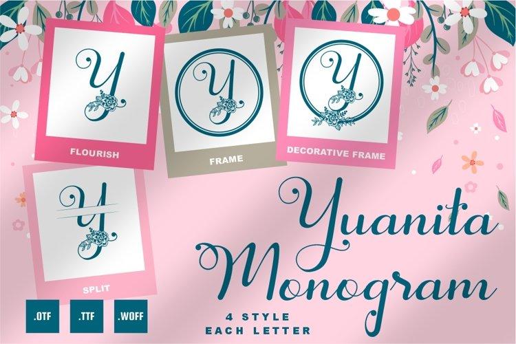 Yuanita Monogram Font - 4 Style Monogram example image 1