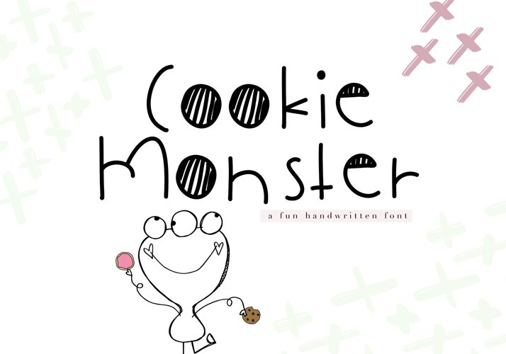Cookie Monster - A Cute Handwritten Font example image 1