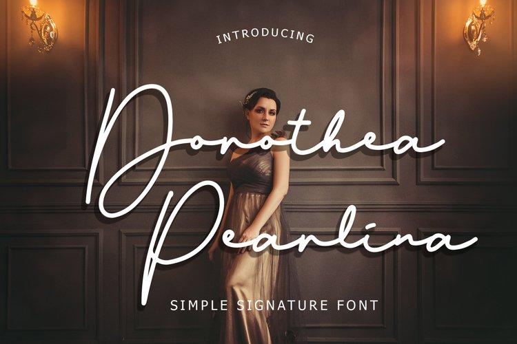 Dorothea Pearlina Simple Signature example image 1