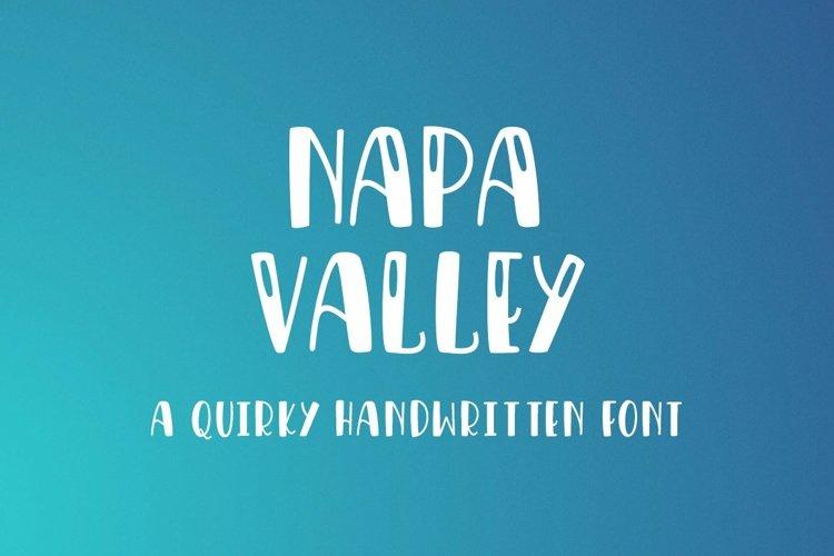 Web Font Napa Valley - a fun craft font example image 1