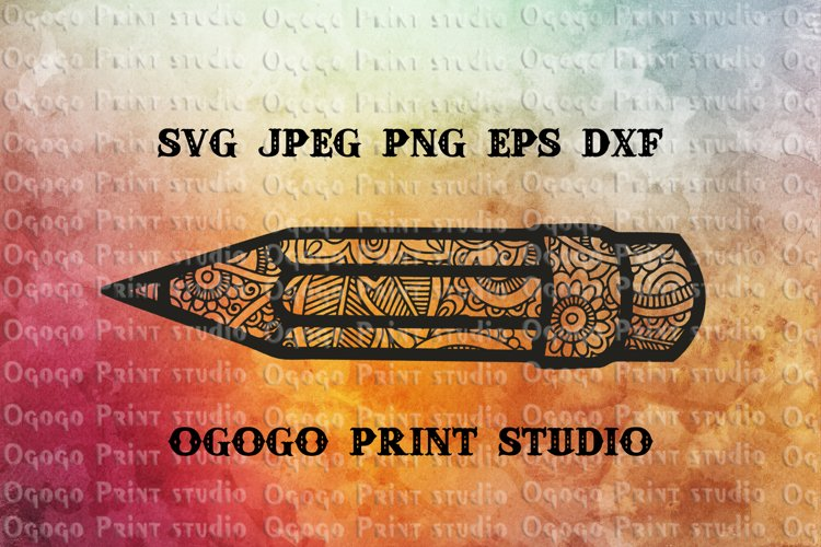 Pencil SVG, Zentangle SVG, 100 Days School svg, Teacher svg