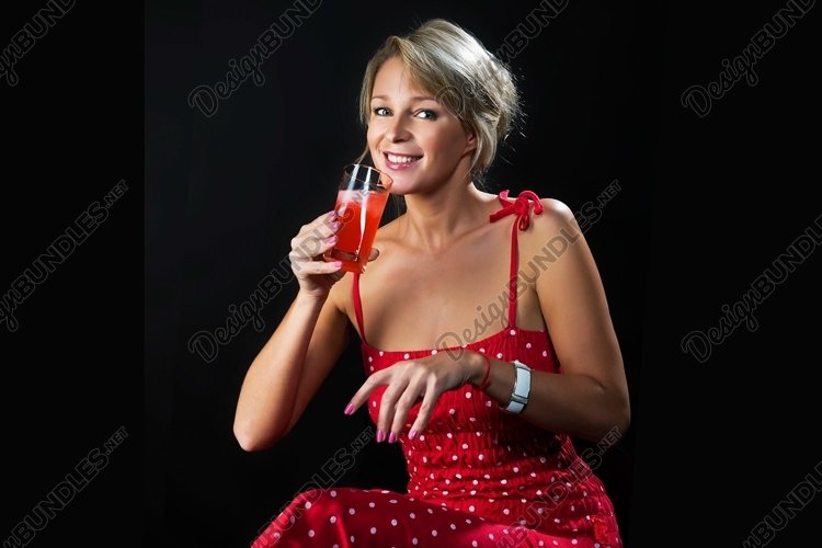 juice, freshness, fruit, drink, girl, glass, example image 1