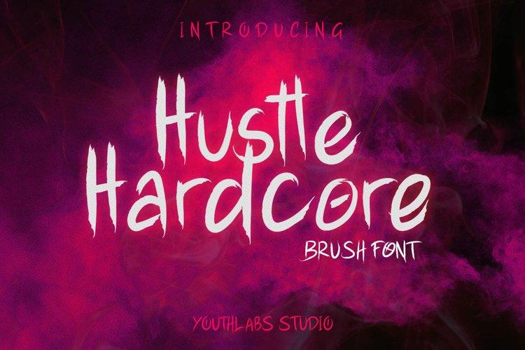 Hustle Hardcore - Brush Font example image 1