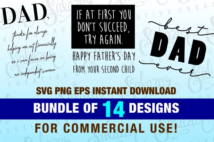 Father's Day Bundle Vector Pack example image 1