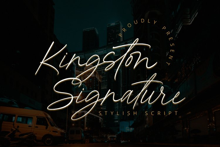 Kingston Signature - Stylish Script Font example image 1