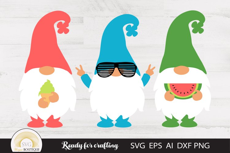 Summer Gnomes Svg example image 1