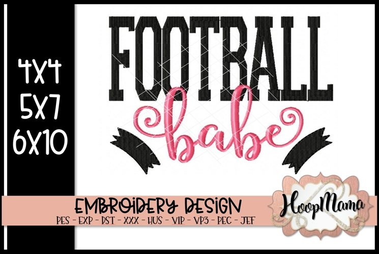 Football Babe - Football Embroidery example image 1