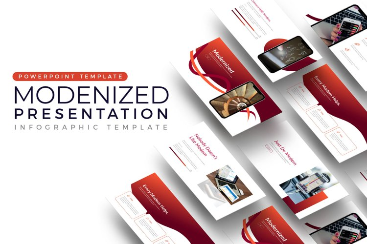 Red Modernized Presentation example image 1