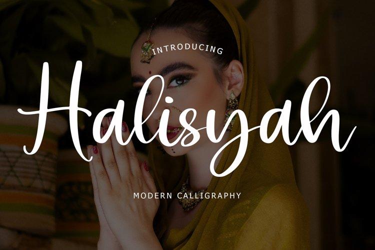 Halisyah Modern Script Font example image 1