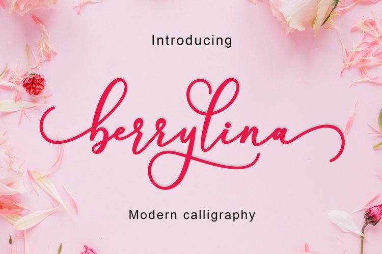 Berrylina Script example image 1