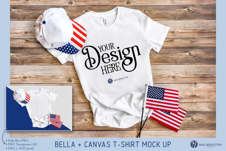 Bella Canvas T-shirt | Patriotic Mock up, PNG, JPG