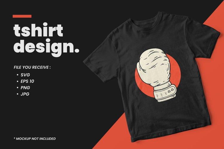 Boxing illustration t shirt design example image 1