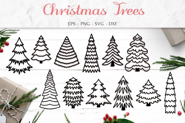 Christmas Tree Svg, Christmas Bundle, Tree Clip Art example image 1