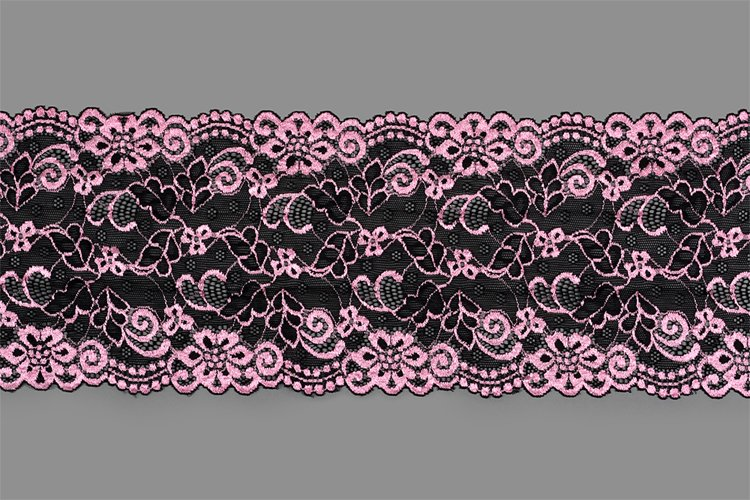 pink straight strip of lace fabric. Texture for websi example image 1