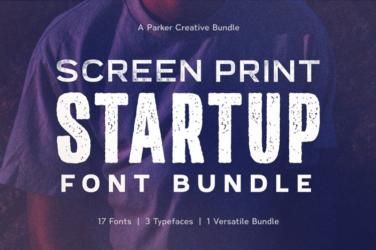 Screen Print Startup Fonts Bundle example image 1