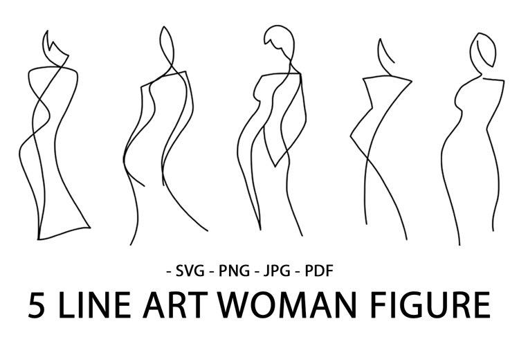 LINE ART WOMAN BODIES SET. ABSTRACT SINGLE LINE WOMAN.