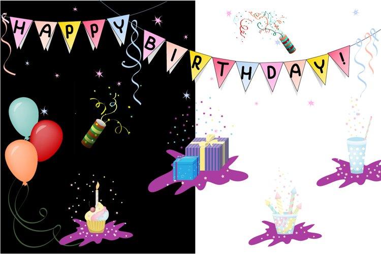 Happy birthday objects