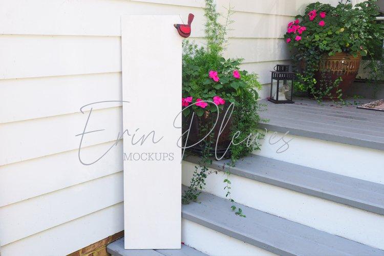 Vertical Sign Mock-Up   White Outdoor Sign Mockup   Jpeg