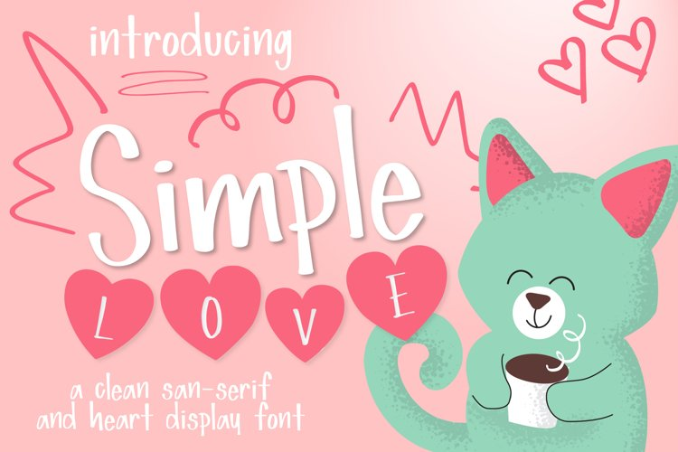 Simple Love Font example image 1