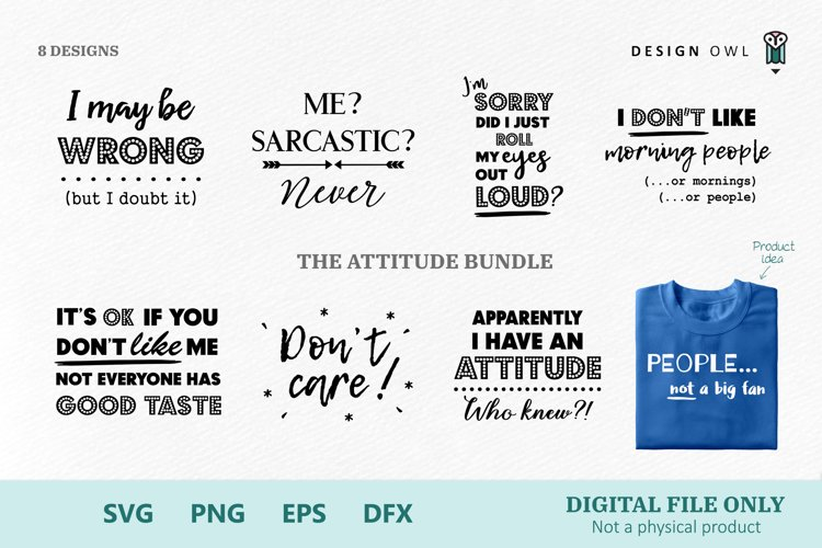 Attitude Bundle - SVG file bundle
