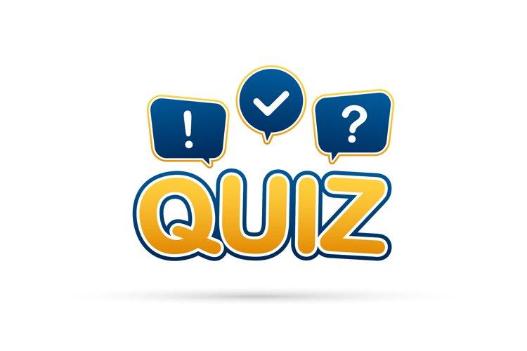 Quiz logo with speech bubble symbols example image 1