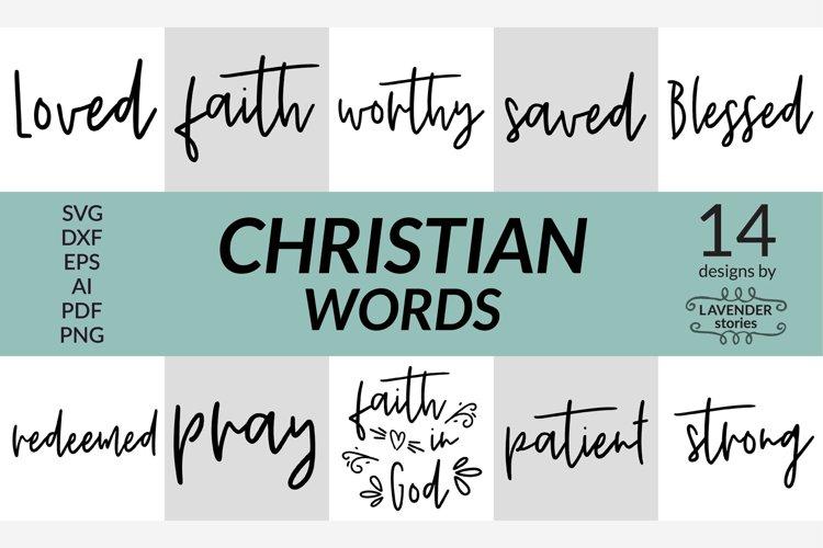 Christian words SVG bundle - 14 designs example image 1