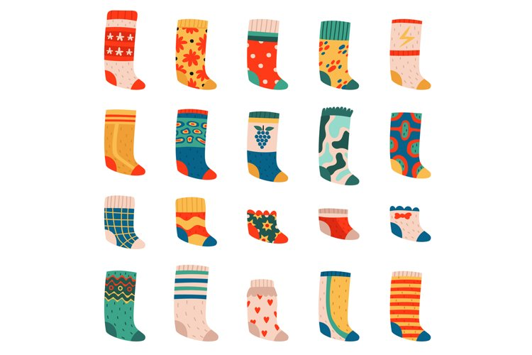 Cute socks. Colorful funny cotton socks, warm textile trendy example image 1