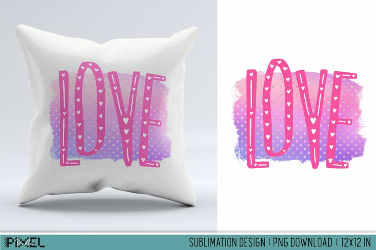Love Letters Sublimation Design PNG example image 1