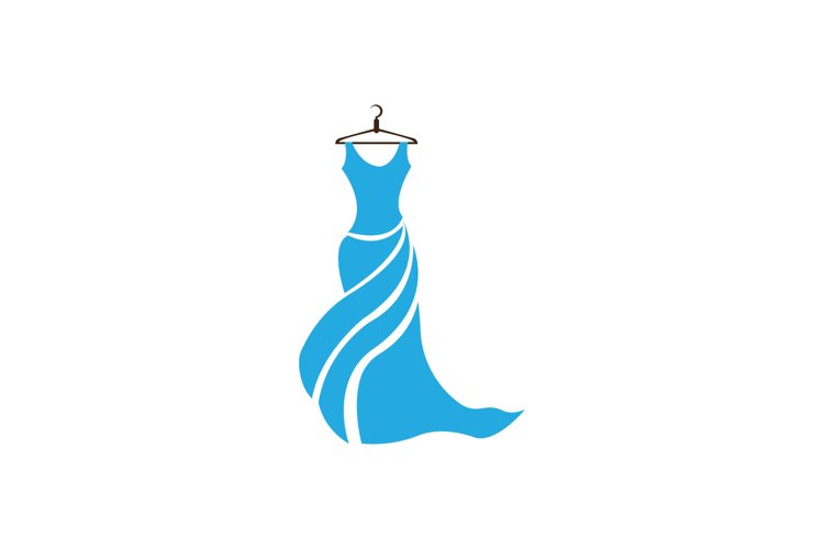 Dress Fashion Lady Logo Vector design example image 1