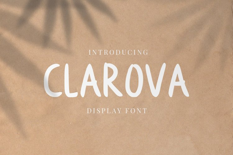 Clarova - Display Font example image 1