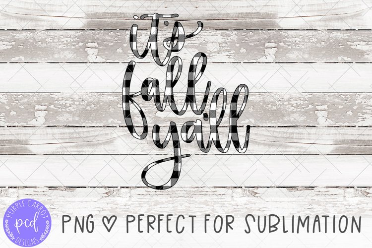 It's Fall Ya'll Hand-Lettered Sublimation File example image 1