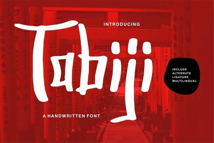 Web Font Tabiji - A Handwritten Font example image 1