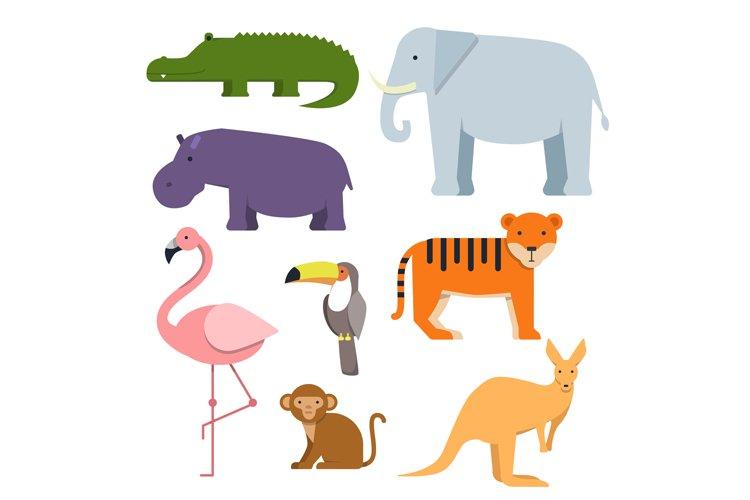 Cartoon clipart of wild animals. Australian fauna example image 1